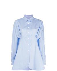 Женская голубая классическая рубашка от Ermanno Scervino