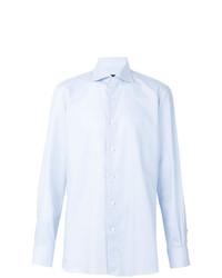 Мужская голубая классическая рубашка от Ermenegildo Zegna