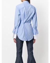 Женская голубая классическая рубашка от Eudon Choi