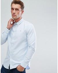 Мужская голубая классическая рубашка от Farah
