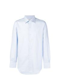 Мужская голубая классическая рубашка от Finamore 1925 Napoli