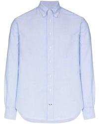 Мужская голубая классическая рубашка от Gitman Vintage
