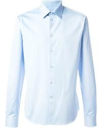 Мужская голубая классическая рубашка от Givenchy