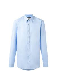 Мужская голубая классическая рубашка от Gucci