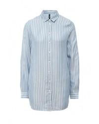 Женская голубая классическая рубашка от Influence