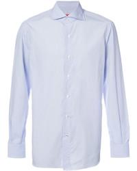 Мужская голубая классическая рубашка от Isaia