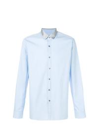 Мужская голубая классическая рубашка от Lanvin
