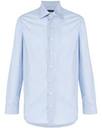 Мужская голубая классическая рубашка от Lardini