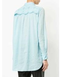 Женская голубая классическая рубашка от Marc Cain