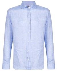Мужская голубая классическая рубашка от Mp Massimo Piombo