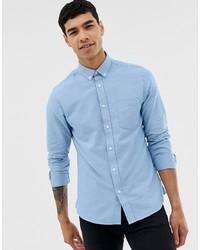 Мужская голубая классическая рубашка от ONLY & SONS