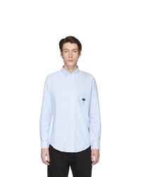 Мужская голубая классическая рубашка от Palm Angels