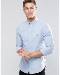 Мужская голубая классическая рубашка от Polo Ralph Lauren