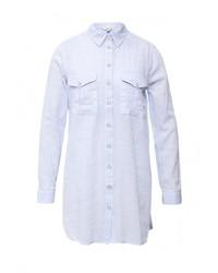Женская голубая классическая рубашка от River Island
