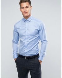 Мужская голубая классическая рубашка от Selected Homme