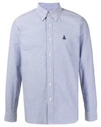 Мужская голубая классическая рубашка от Sophnet.