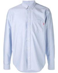 Мужская голубая классическая рубашка от Supreme