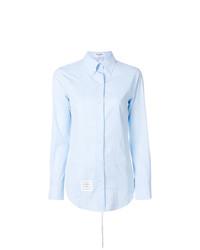 Женская голубая классическая рубашка от Thom Browne