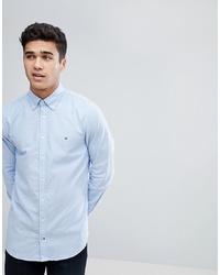 Мужская голубая классическая рубашка от Tommy Hilfiger