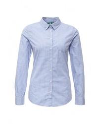 Женская голубая классическая рубашка от United Colors of Benetton