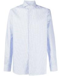 Мужская голубая классическая рубашка от Xacus