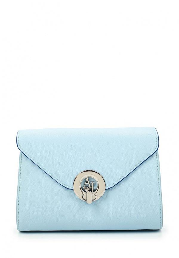 839717cafb0d Голубая кожаная сумка через плечо от Armani Jeans, 14 499 руб ...
