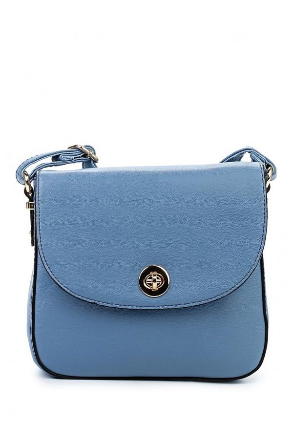 22732137cd26 Голубая кожаная сумка через плечо от David Jones, 1 940 руб ...