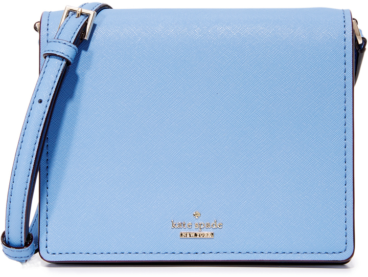 49bd8f753ae2 Голубая кожаная сумка через плечо от Kate Spade, 12 827 руб ...