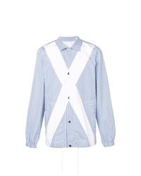 Мужская голубая куртка-рубашка в вертикальную полоску от Comme Des Garcons SHIRT