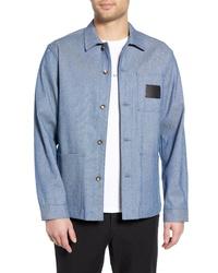 Голубая куртка-рубашка