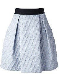 Голубая мини-юбка со складками от Pinko
