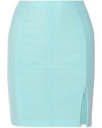 Голубая мини-юбка