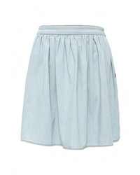 Голубая мини-юбка от Love Moschino