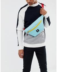 Мужская голубая поясная сумка из плотной ткани от Jack & Jones