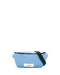 Мужская голубая поясная сумка из плотной ткани от Soulland