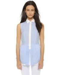 Женская голубая рубашка без рукавов от Derek Lam 10 Crosby