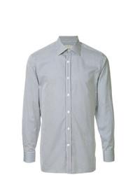 Мужская голубая рубашка с длинным рукавом в вертикальную полоску от Gieves & Hawkes