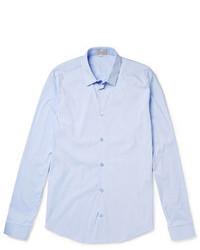 Голубая рубашка с длинным рукавом