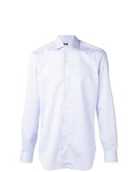 Мужская голубая рубашка с длинным рукавом от Barba