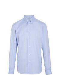 Мужская голубая рубашка с длинным рукавом от Burberry