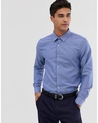Мужская голубая рубашка с длинным рукавом от Burton Menswear