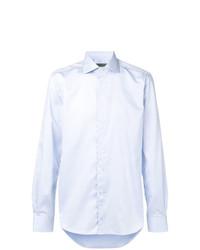 Мужская голубая рубашка с длинным рукавом от Corneliani