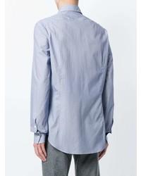 Мужская голубая рубашка с длинным рукавом от Dell'oglio