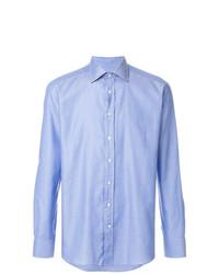 Мужская голубая рубашка с длинным рукавом от Etro
