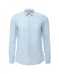 Мужская голубая рубашка с длинным рукавом от Guess Jeans