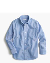 Детская голубая рубашка с длинным рукавом для мальчиков от J.Crew