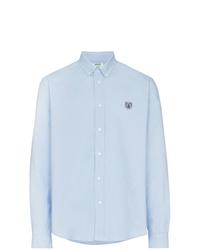 Мужская голубая рубашка с длинным рукавом от Kenzo