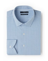 Мужская голубая рубашка с длинным рукавом от Mango Man