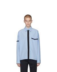 Мужская голубая рубашка с длинным рукавом от Marni