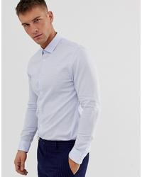Мужская голубая рубашка с длинным рукавом от MOSS BROS